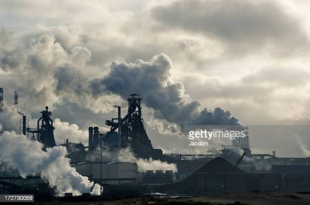 lots of smoke - carbon dioxide stock photos and pictures
