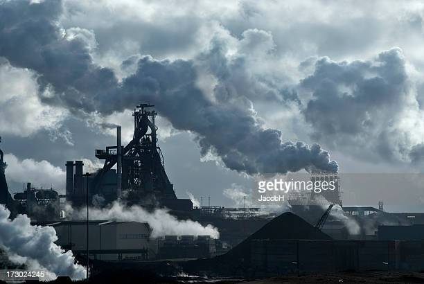 lots of smoke - incinerator stock photos and pictures