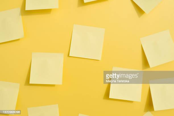 lots of sticky notes on a light background. - generic description stock pictures, royalty-free photos & images
