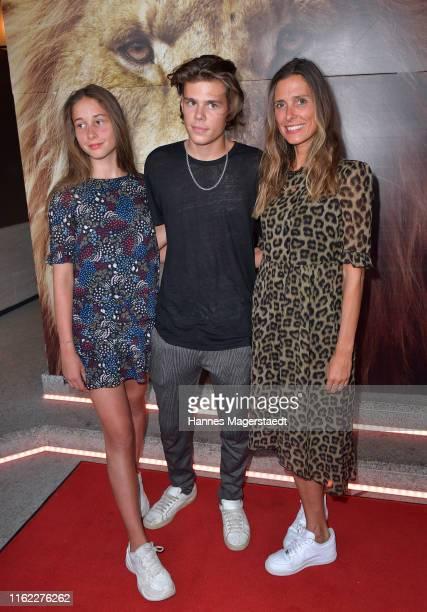 """Lotta Lehmann, Mats Lehmann and Conny Lehmann attend the Family and Friends screening Of """"Der Koenig Der Loewen"""" at Arri Kino on July 15, 2019 in..."""