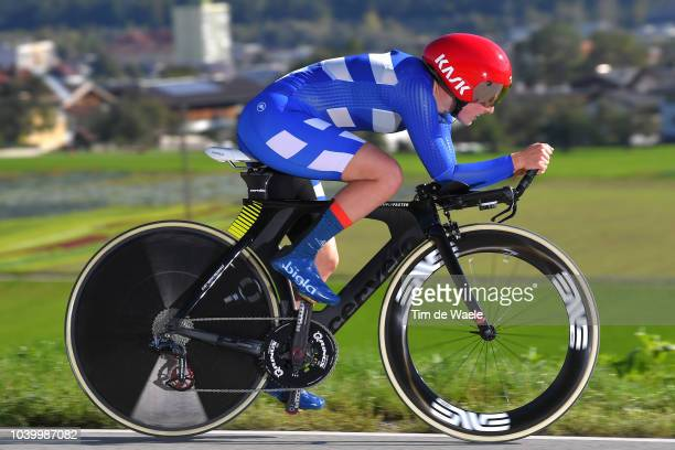Lotta Lepisto of Finland / during the Women Elite Individual Time Trial a 278km race from Wattens to Innsbruck 582m at the 91st UCI Road World...