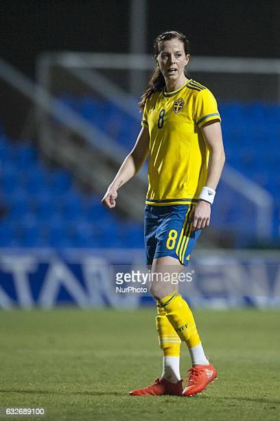 Lotta Schelin during the preseason friendly match between national women's Sweden vs England in Pinatar Arena San Pedro del Pinatar Murcia SPAIN 24th...