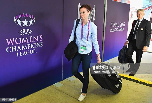 Lotta Schelin of Olympique Lyonnais arrives prior to the UEFA Women's Champions League Final match between Wolfsburg and Lyon at Stadio Citta del...