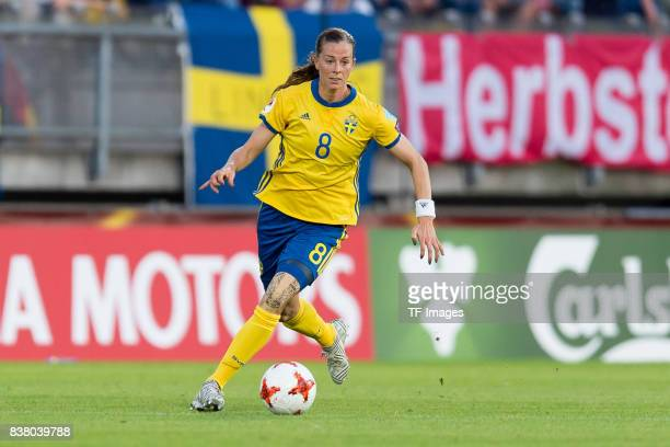 Lotta Schelin of Sweden controls the ball during the Group B match between Germany and Sweden during the UEFA Women's Euro 2017 at Rat Verlegh...
