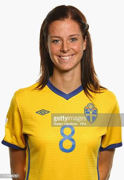 Lotta Schelin of Sweden during the FIFA portrait session on June 25 2011 in Cologne Germany