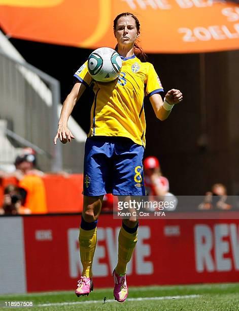 Lotta Schelin of Sweden during the FIFA Women's World Cup 2011 Quarter Final match between Sweden and Australia at FIFA World Stadium Augsburg on...