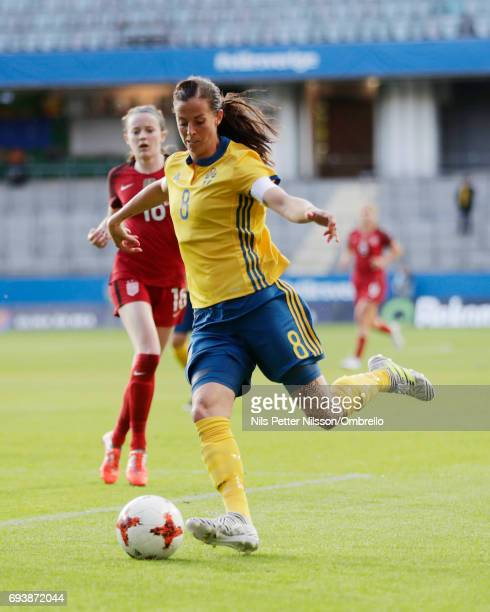 Lotta Schelin of Sweden during the international friendly between Sweden and USA at Ullevi Stadium on June 8 2017 in Gothenburg Sweden