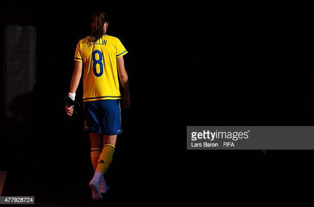 Lotta Schelin of Sweden of Schwedin leaves the pitch after loosing the FIFA Women's World Cup 2015 Round of 16 match between Germany and Sweden at...