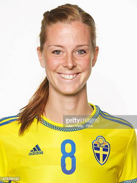 Lotta Schelin of Sweden poses for a portrait during the team portrait session at the Hilton Hotel on June 4 2015 in Winnipeg Canada