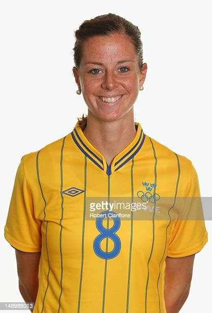 Lotta Schelin of Sweden poses for a portrait on July 21 2012 in Coventry England