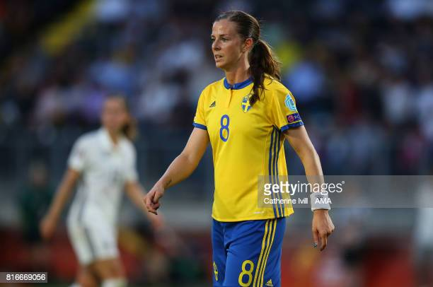 Lotta Schelin of Sweden Women during the UEFA Women's Euro 2017 Group B match between Germany and Sweden at Rat Verlegh Stadion on July 17 2017 in...