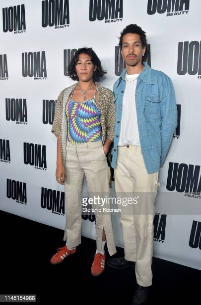Lotte Anderson and Sean Frank attends UOMA Beauty Launch Event at NeueHouse Hollywood on April 25 2019 in Los Angeles California