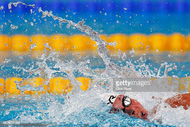 Lotte Friis of Denmark competes in the Women's 1500m Freestyle Heats on day ten of the 16th FINA World Championships at the Kazan Arena on August 3,...