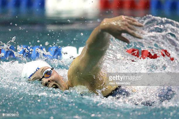 Lotte Friis swims in the Women's 400 meter freestyle championship final during day two of the Arena Pro Swim Series at the YMCA of Central Florida...