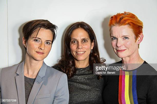 Lotte Jeffs Elizabeth Carlson and Sandy Powell attend a VIP screening of Carol hosted by The Weinstein Company and ELLE Magazine at The Soho Hotel on...