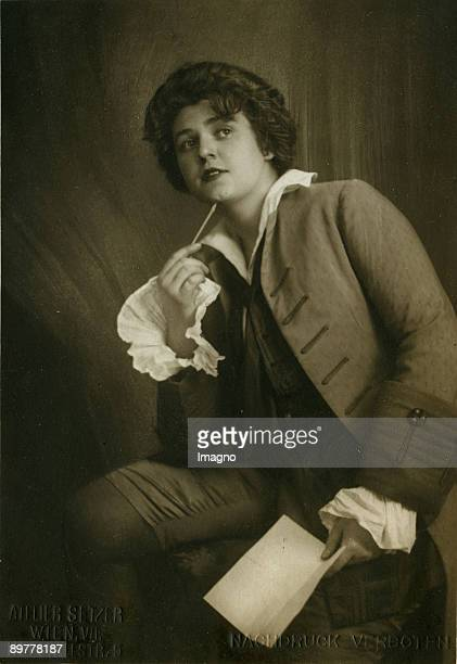 "Lotte Lehman as the Composer in ""Ariadne auf Naxos"" by Richard Strauss. Photograph. 1916"