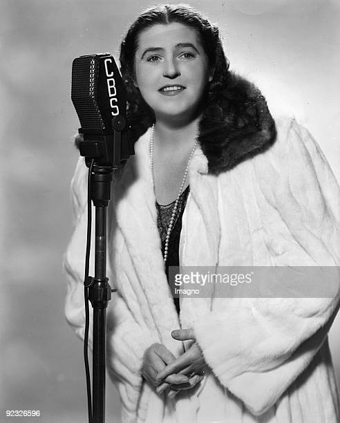 Lotte Lehmann, Austrian singer. America. Photograph around 1940
