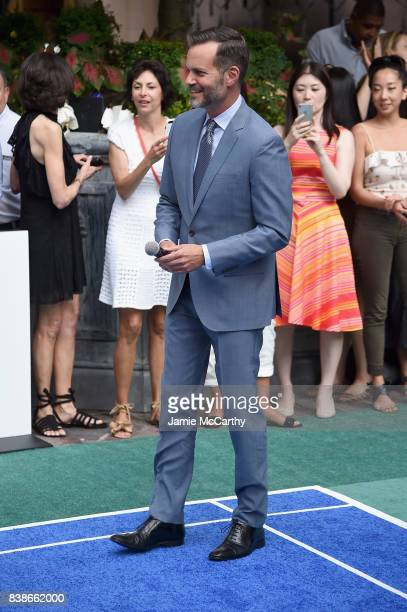 Lotte NYC and Company CEO/President Fred Dixon speaks to guests during the 2017 Lotte New York Palace Invitational at Lotte New York Palace on August...
