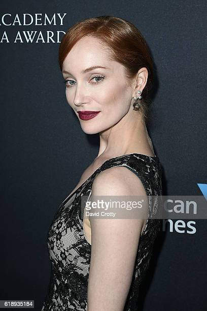 Lotte Verbeek attends the 2016 AMD British Academy Britannia Awards Presented by Jaguar Land Rover and American Airlines at The Beverly Hilton Hotel...