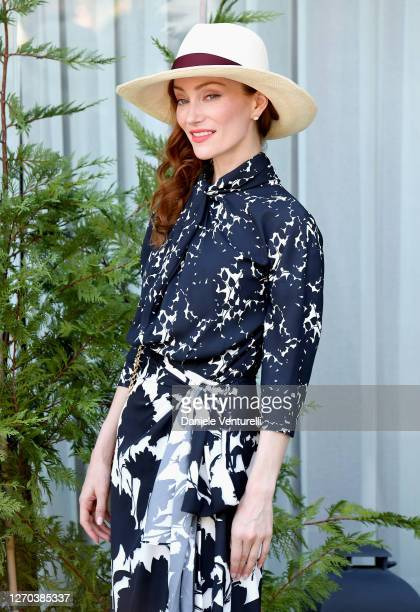 Lotte Verbeek is seen arriving at the Excelsior during the 77th Venice Film Festival on September 03, 2020 in Venice, Italy.