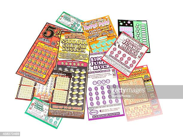 lottery scratch off game tickets - lottery ticket stock pictures, royalty-free photos & images