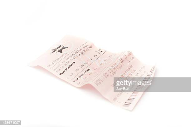 uk lottery ticket - lottery ticket stock pictures, royalty-free photos & images