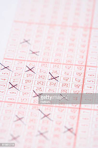 a lottery ticket - lotterytickets stock pictures, royalty-free photos & images
