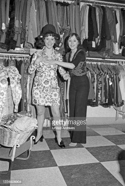 Lotti and Hilde Krekel at the wardrobe, Germany, 1960s.