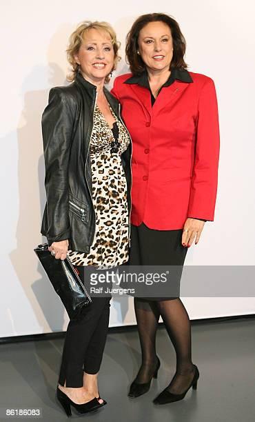 Lotti Krekel and Monika Piel attend 'WDR Treff' on April 23 2009 in Cologne Germany
