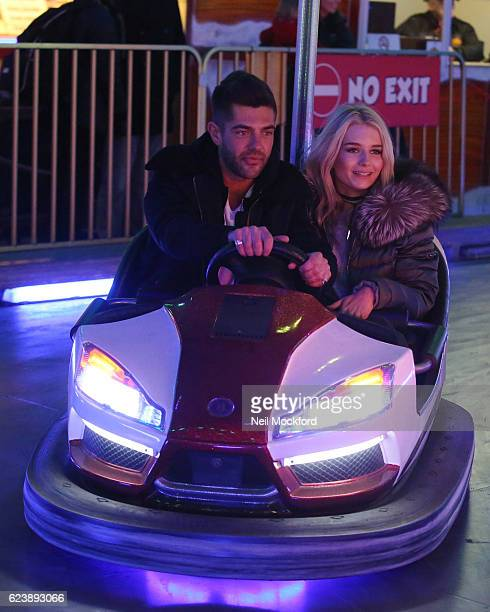 Lottie Moss and Alex Mytton seen at Hyde Park Winter Wonderland on November 17 2016 in London England