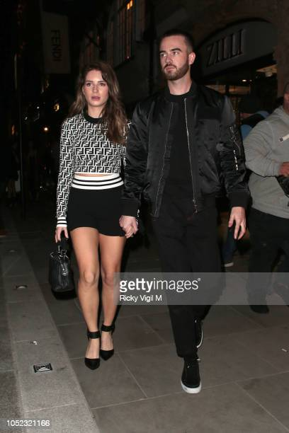Lottie Moss and Danyul Brown seen attending The Fendi Mania Drop London on October 16 2018 in London England