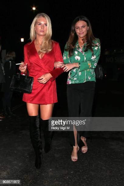 Lottie Moss and Emily Blackwell attend OVO by Cirque du Soleil at Royal Albert Hall on January 10 2018 in London England