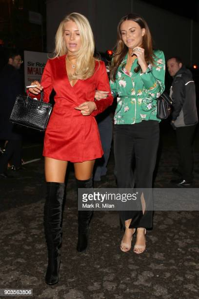 Lottie Moss and Emily Blackwell leaving the Royal Albert Hall after watching OVO Cirque du Soleil on January 10 2018 in London England