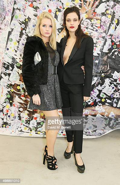 Lottie Moss and Evangeline Ling attend the McQ Spitalfields launch on November 26 2015 in London England