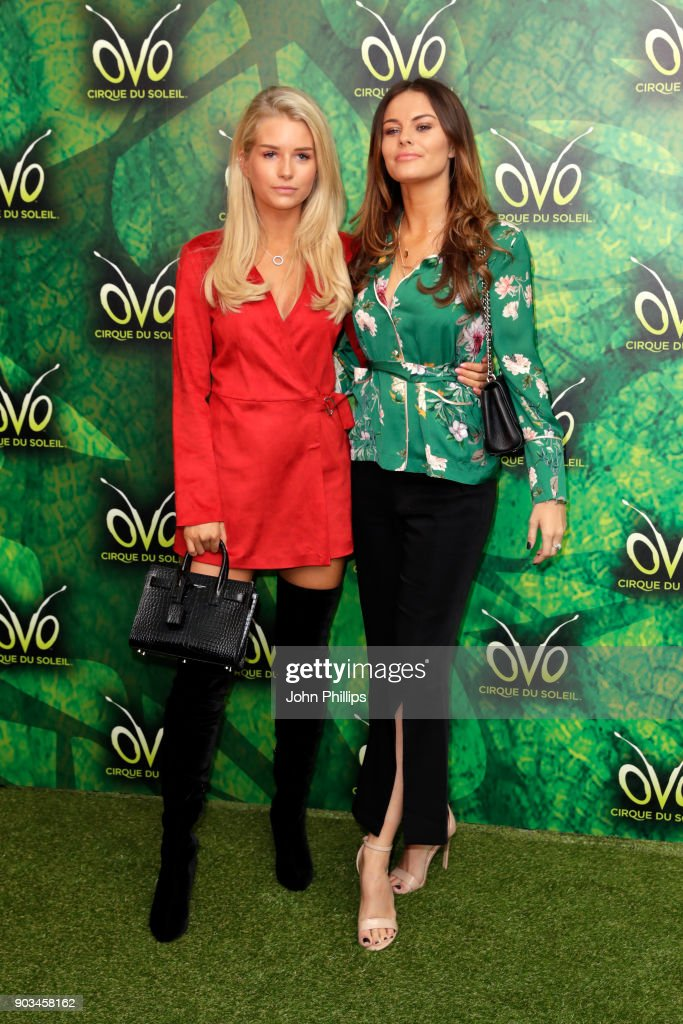 Lottie Moss (L) and guest attend the Cirque du Soleil OVO premiere at Royal Albert Hall on January 10, 2018 in London, England.