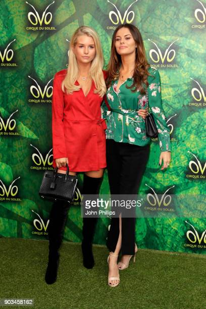 Lottie Moss and guest attend the Cirque du Soleil OVO premiere at Royal Albert Hall on January 10 2018 in London England