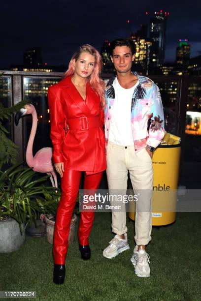 Lottie Moss and Jack Brett Anderson attend Bumble's Summer Singles Pool Party at Shoreditch House on August 28 2019 in London England