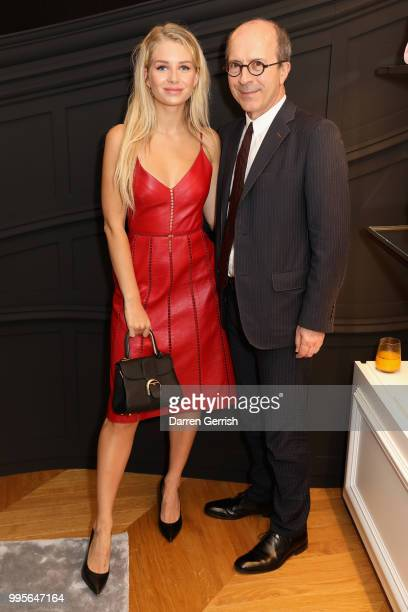 Lottie Moss and JeanMarc Loubier attend the Delvaux and British Vogue exclusive dinner on July 10 2018 in London England