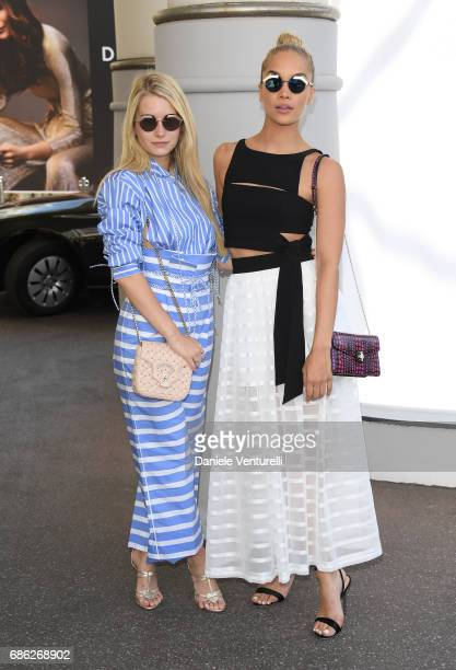 Lottie Moss and Jessica Sanders are spotted during the 70th annual Cannes Film Festival at on May 21 2017 in Cannes France