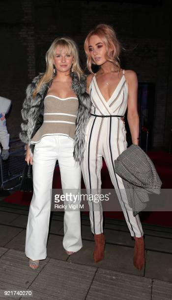 Lottie Moss and Nicola Hughes seen attending the London Fabulous Fund Fair at Roundhouse during LFW February 2018 on February 20 2018 in London...