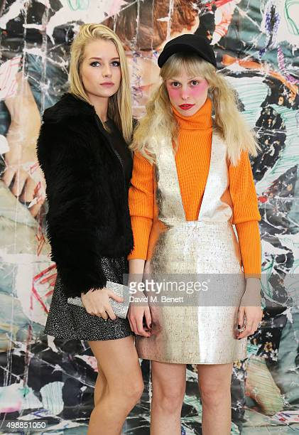 Lottie Moss and Petite Meller attend the McQ Spitalfields launch on November 26 2015 in London England
