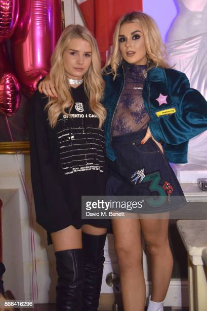 Lottie Moss and Tallia Storm attend Tallia Storm's 19th birthday party at Bunga Bunga on October 25 2017 in London England
