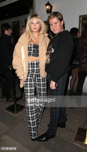 Lottie Moss and Valentine Sozbilir attend Celebrities attend Bunga Bunga 1st birthday party at Bunga Bunga Covent Garden on January 31 2018 in London...