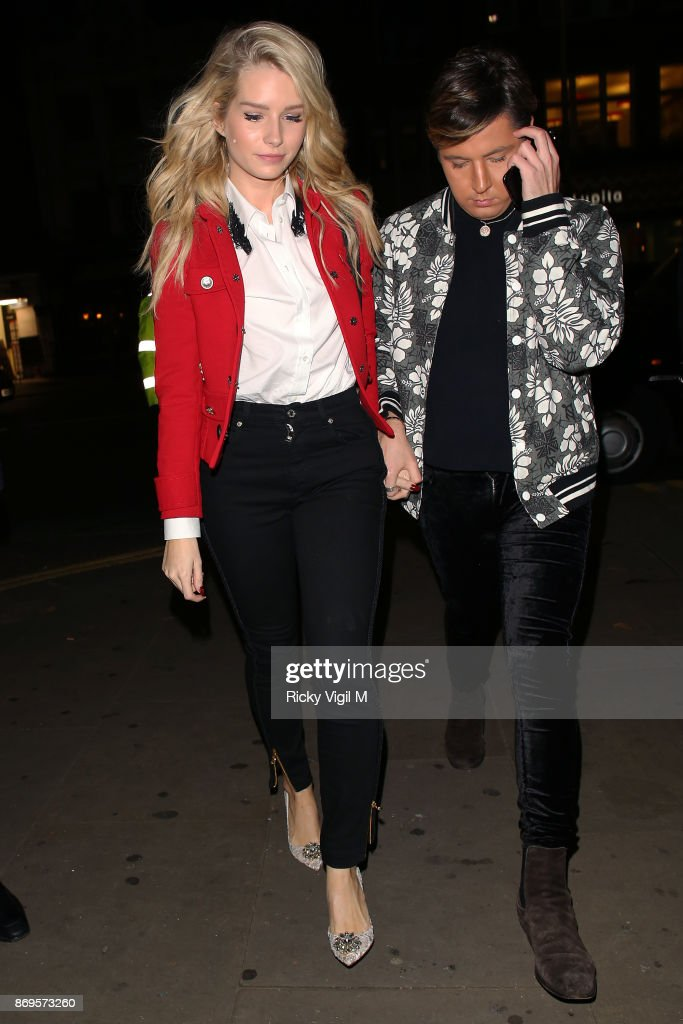 Lottie Moss and Valentine Sozbilir attend Mahiki Kensington - launch party on November 2, 2017 in London, England.
