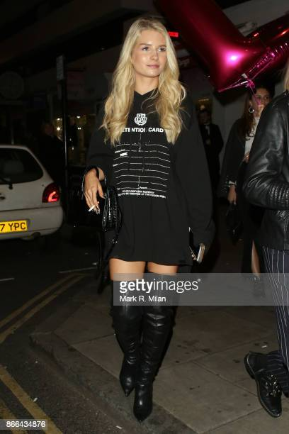 Lottie Moss attending Tallia Storms 19th Birthday Party at Bunga Bunga Covent Garden on October 25 2017 in London England