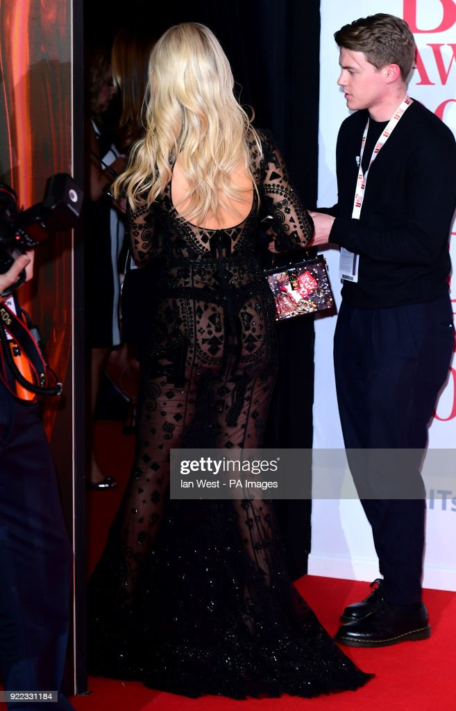 Lottie Moss attending the Brit Awards at the O2 Arena, London.