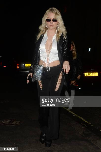 Lottie Moss attends a party at Isabel restaurant in Mayfair on October 12, 2021 in London, England.