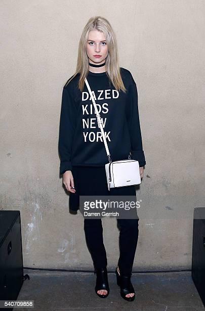 Lottie Moss attends as DKNY X DAZED celebrate the launch of #DazedKidsNewYork at Shoreditch Studios on June 16 2016 in London England