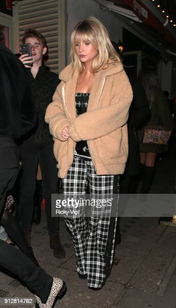 Lottie Moss attends Celebrities attend Bunga Bunga 1st birthday party at Bunga Bunga Covent Garden on January 31 2018 in London England