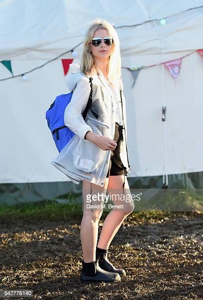 Lottie Moss attends day 1 of Glastonbury Festival on June 24 2016 in Glastonbury England